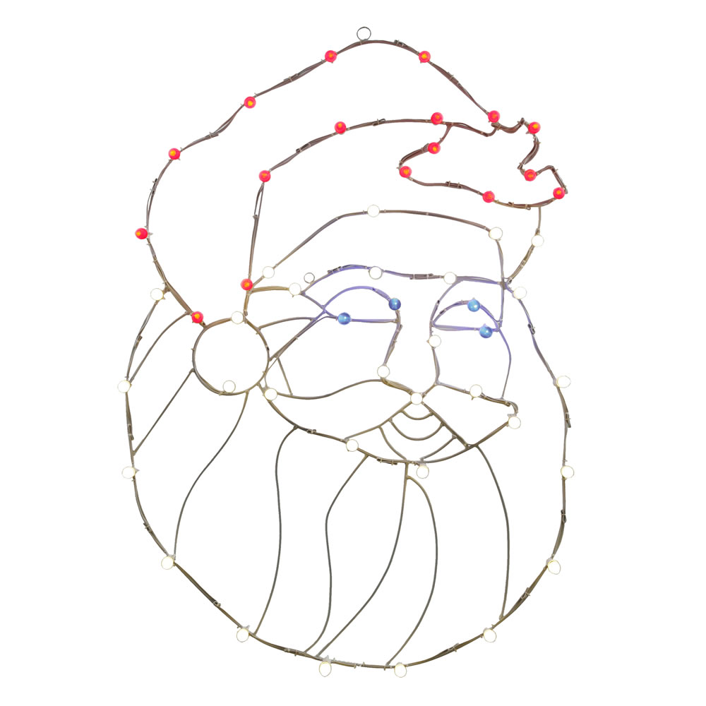 48 Inch LED C7 Santa Head Wire Frame Motif