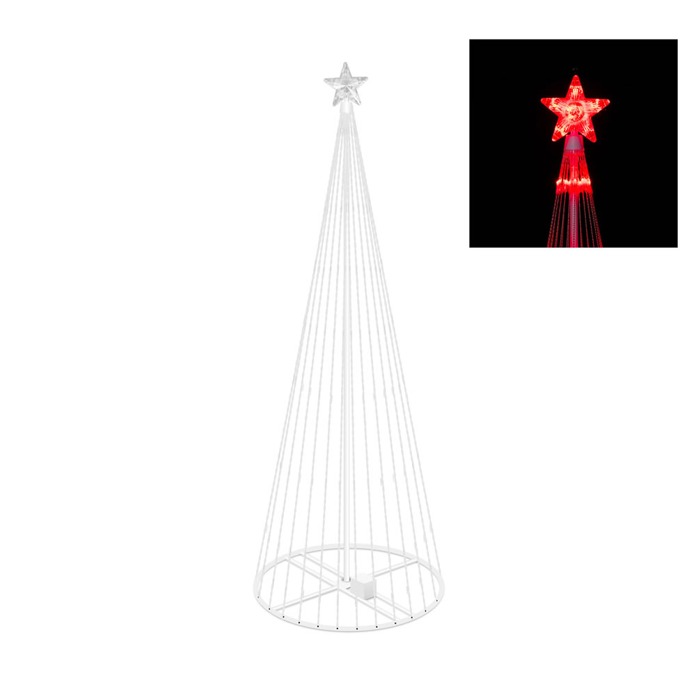 6 Foot Red Light Show Tree 200 LED Red Lights