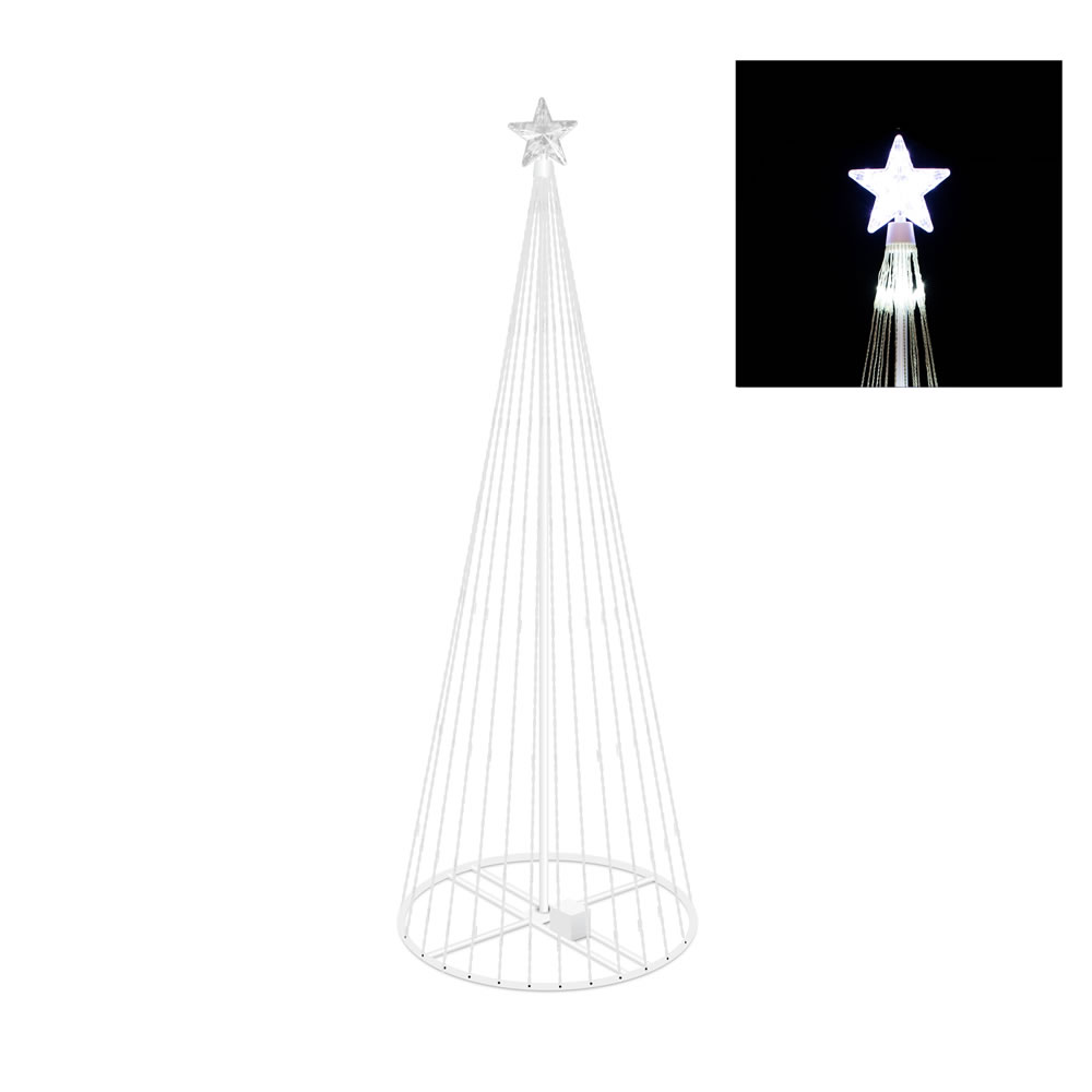 6 Foot Cool White Light Show Tree 200 LED Cool White Lights