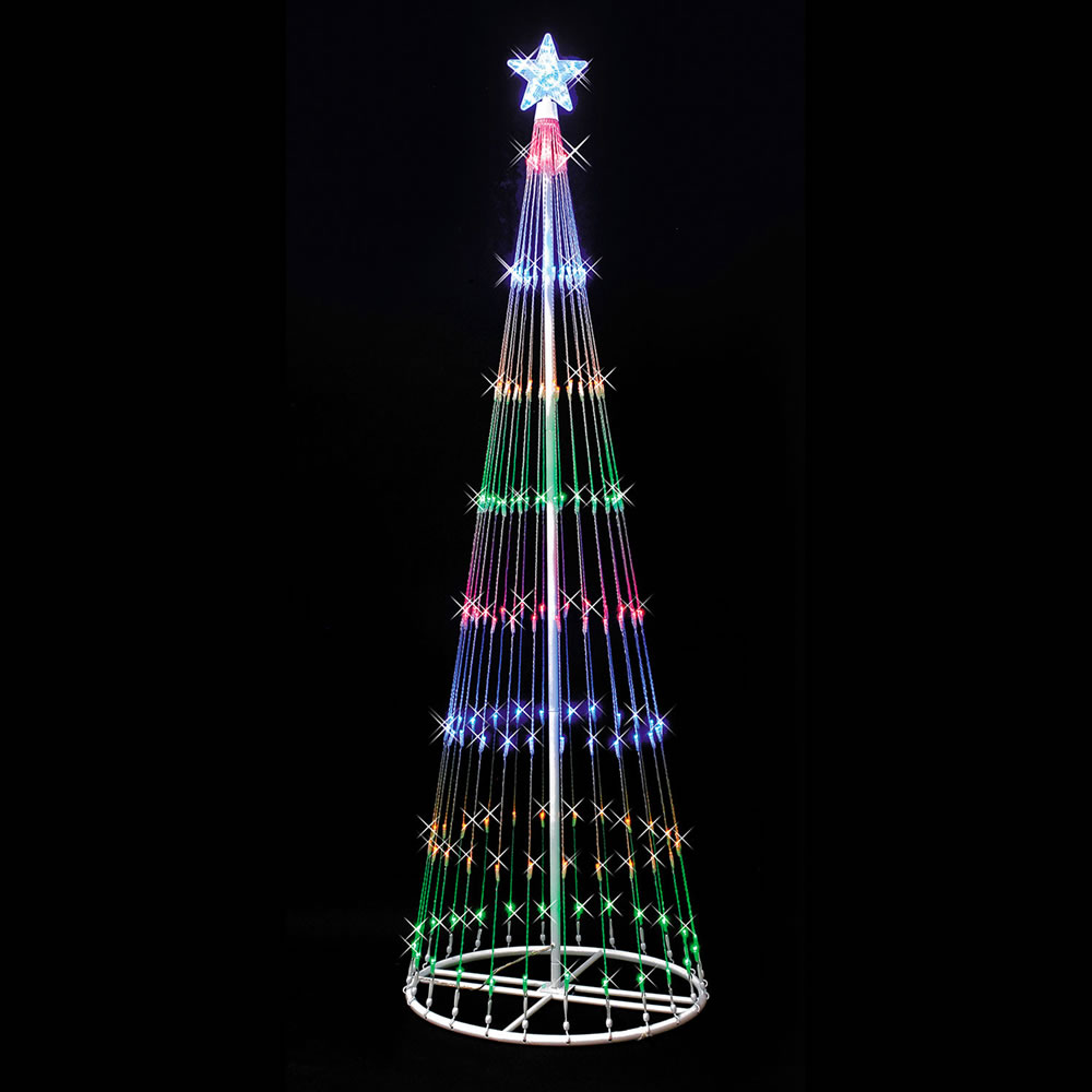 9 Foot Lighted Christmas Tree Decoration 344 LED Multi Lights
