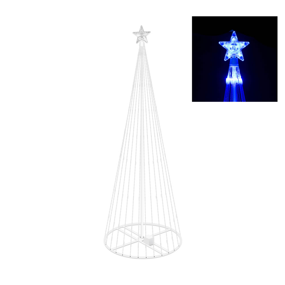 9 Foot Lighted Christmas Tree Decoration 344 LED Blue Lights
