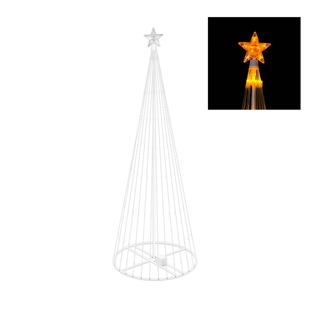 9 Foot Lighted Christmas Tree Decoration 344 LED Gold Lights