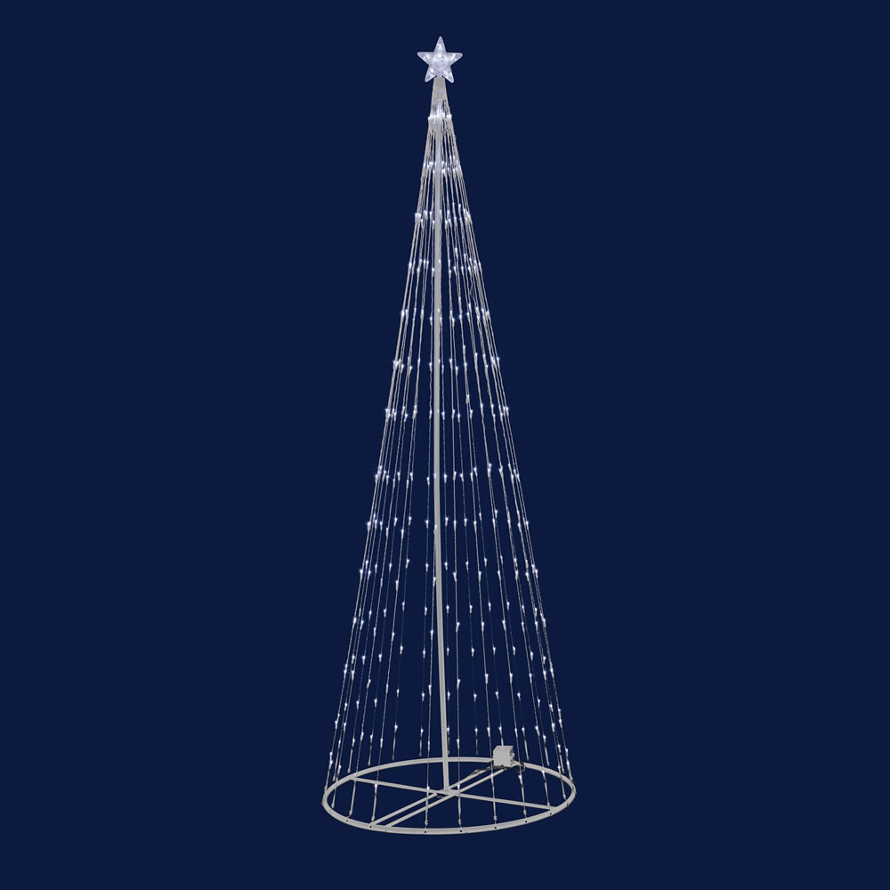 12 Foot Lighted Tree Outdoor Decoration 440 LED Warm White Lights