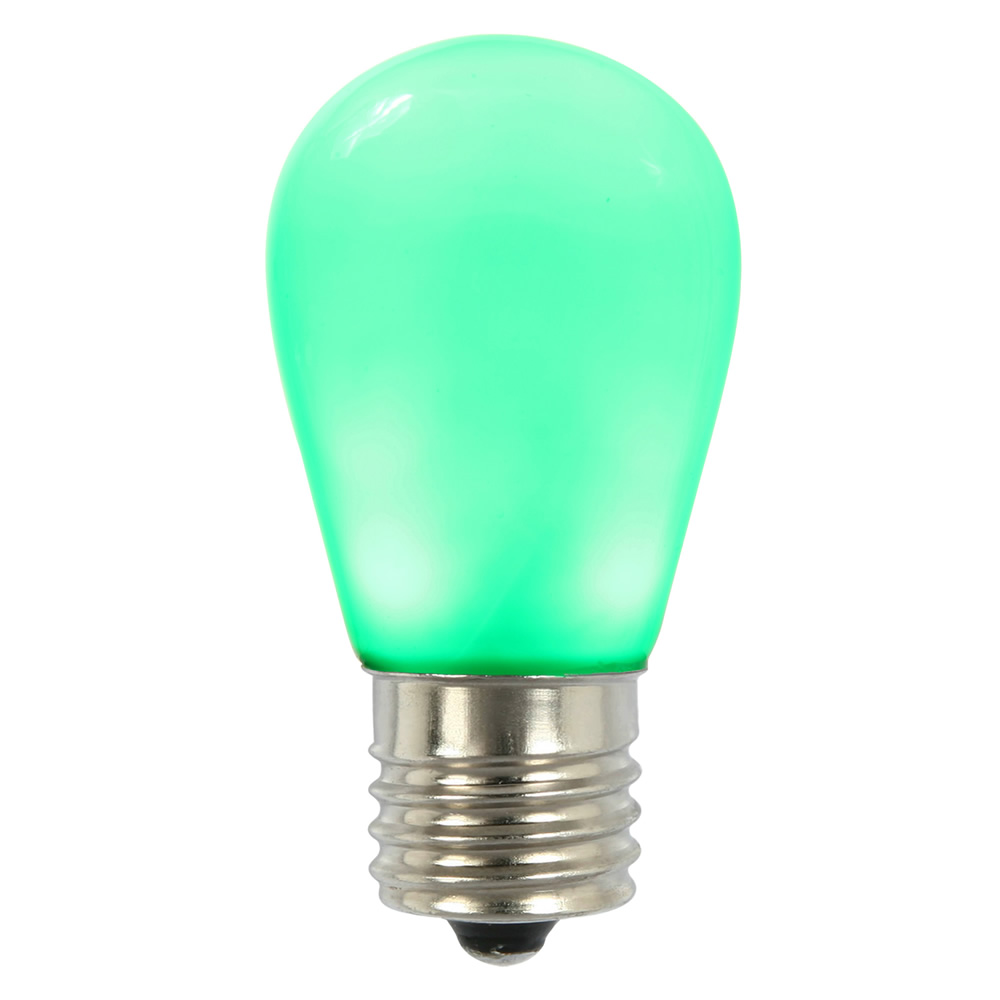 25 LED S14 Patio Ceramic Green Retrofit Replacement Bulbs
