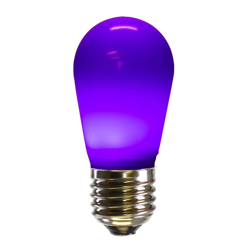 25 LED S14 Patio Ceramic Purple Retrofit Replacement Bulbs