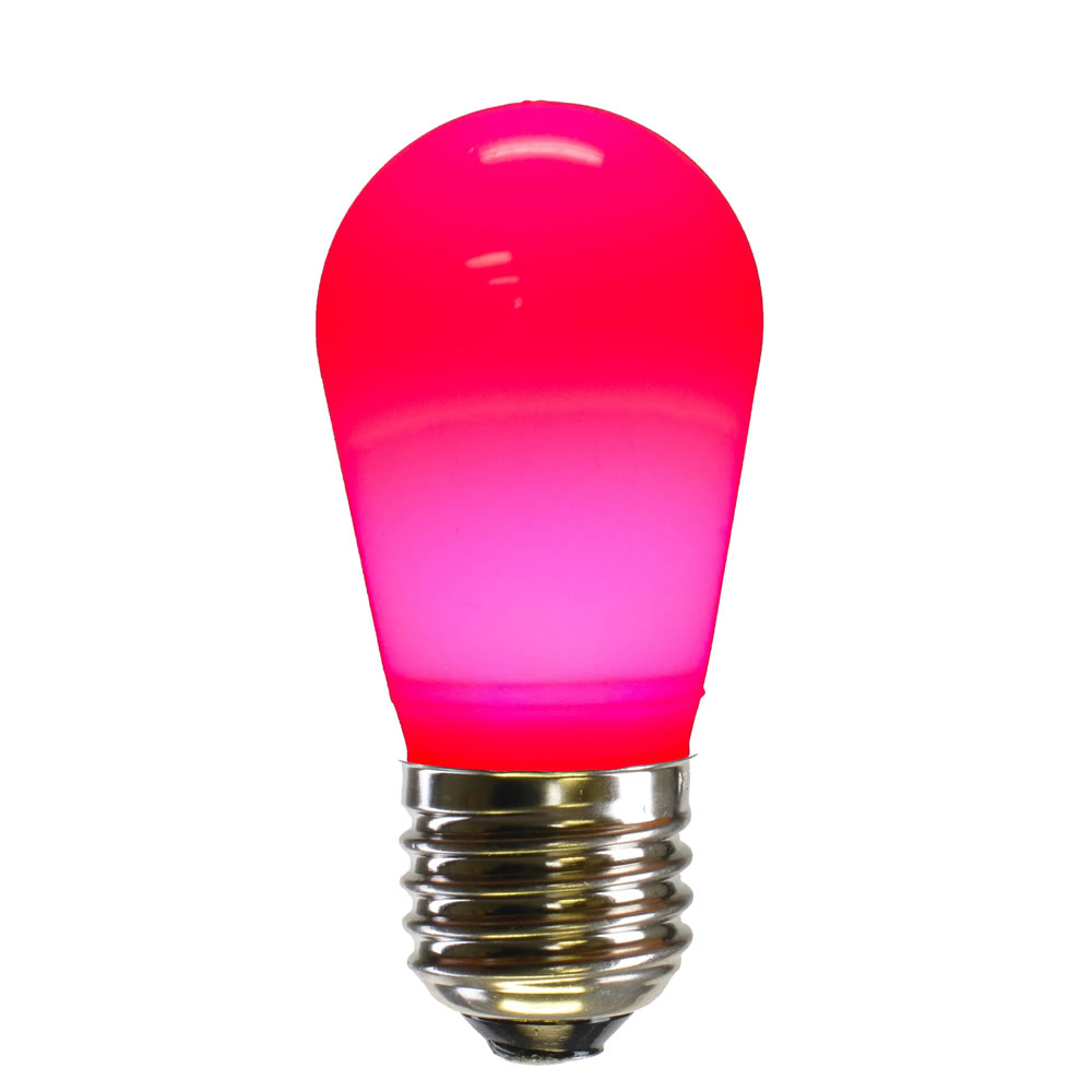 25 LED S14 Patio Ceramic Pink Retrofit Replacement Bulbs
