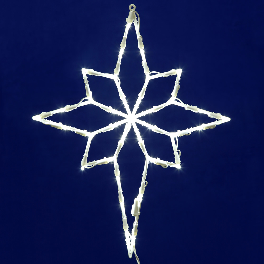 star of bethlehem led lighted window christmas decoration 35 led 5mm wide angle polka dot lights - Blue And White Outdoor Christmas Decorations
