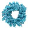 6 Inch Sky Blue Mini Wreath - Case Of 24