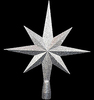 40 Inch Silver 8 Point Star Tree Topper