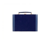 10 Inch Navy Blue Suede Backgammon Set