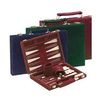 10 Inch Burgundy Suede Backgammon Set