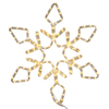 48 Inch LED Pure White Diamond Snowflake - 286 LED Pure White Lights
