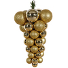 24 Inch Gold 3 Finish Grape Cluster Ornament