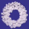 20 Inch Crystal White Spruce Wreath - Case Of 3