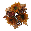 13 Inch Fall Sunflower Berry Wreath