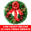 Live Fancy Fresh Christmas Wreath