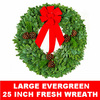 Live Large Evergreen Fresh Christmas Wreath