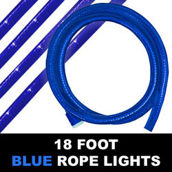 Blue Rope Lights - 18 Foot
