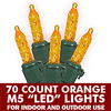 70 Light LED M5 Orange - Green Wire
