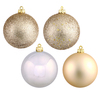 60MM Champagne Ornaments - Assorted Finishes - Set Of 24