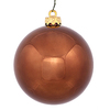 60MM Chocolate Shiny Ornaments - Box Of 24