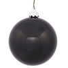 4 Inch Black Shiny Ornaments - Box Of 12