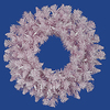 24 Inch Pink Flocked Spruce Wreath