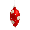 100MM Red And White Dot Finials - Set Of 18