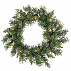 24 Inch Imperial Wreath - 50 Clear Lights - Case Of 2