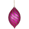 10.5 Inch Cerise Glitter Swirl Matte Drop Ornament - Case Of 2