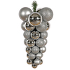 24 Inch Silver Grape Cluster Ornament