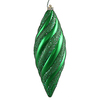 8 Inch Green Matte Glitter Spiral Ornament - Case Of 3