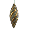8 Inch Olive Matte Glitter Spiral Ornament - Case Of 3