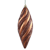 8 Inch Mocha Matte Glitter Spiral Ornament - Case Of 3