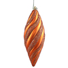 8 Inch Burnish Orange Matte Glitter Spiral Ornament - Case Of 3